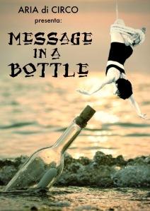 Aria di Circo performance Message in a Bottle locandina