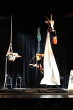 Spettacolo danza aerea per Teatro Terra di Nessuno
