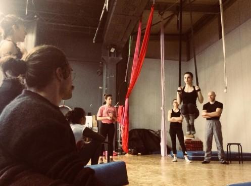 Aria di Circo stage di cinghie con Caterina Pio