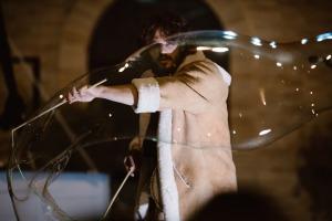 Aria di Circo performance Message in a Bottle a Filottrano