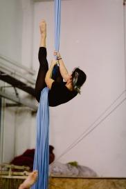 Aria di Circo stage di tessuti aerei con Will Davis